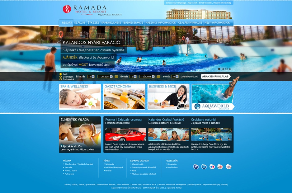 Ramada Resort Aquaworld | webdesign