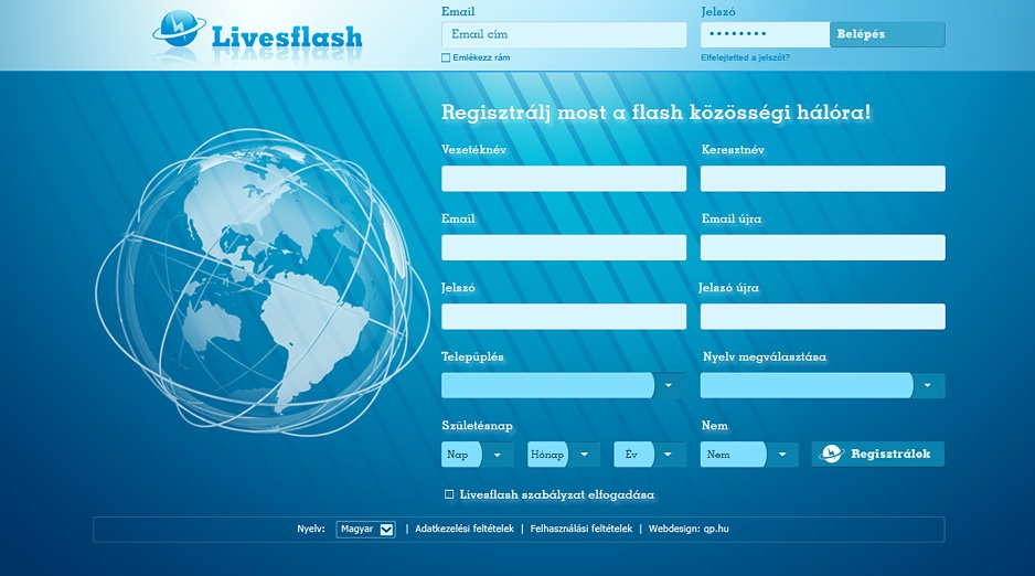 Livesflash.com | webdesign